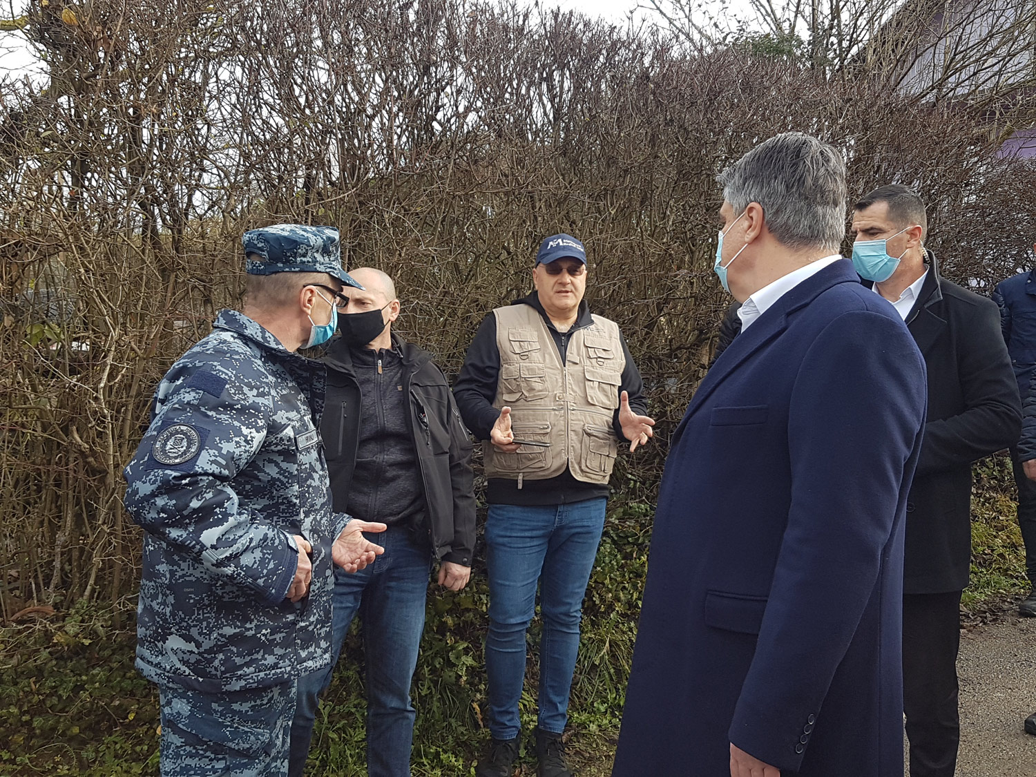 International Medical Corps Team joins the President of the Republic of Croatia's visit to the hard hit village of Strasnik.